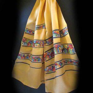 aranyszínű selyemsál