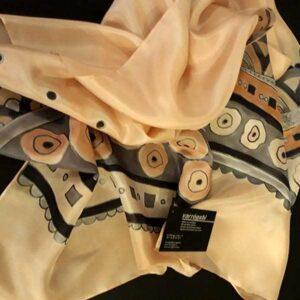 barackvirágos selyemsál